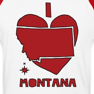 i heart Montana (red) T-Shirts - Baseball T-Shirt