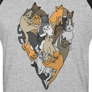 cat heart T-Shirts - Baseball T-Shirt
