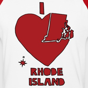i heart Rhode Island (red) T-Shirts - Baseball T-Shirt