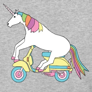 unicorn riding motor scooter T-Shirts - Baseball T-Shirt