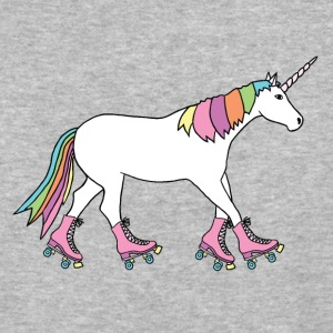 unicorn with roller skates T-Shirts - Baseball T-Shirt