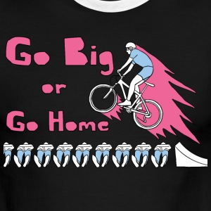 go big or go home bike jump T-Shirts - Men's Ringer T-Shirt