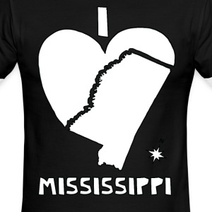 i heart Mississippi (white) T-Shirts - Men's Ringer T-Shirt