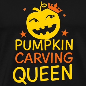 Pumpkin carving Queen for Halloween T-Shirts - Men's Premium T-Shirt