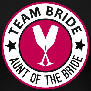 Team Bride Badge - Aunt Of The Bride Women's T-Shirts - Women's Premium T-Shirt