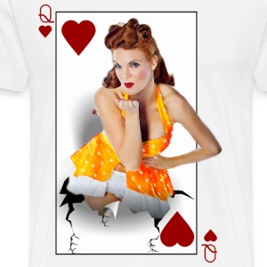 pinup girl queen heart - Men's Premium T-Shirt