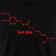 Design ~ YellowIbis.com 'Chemical Structures' Men's / Unisex Standard T-Shirt: Hot like capsaicin (Black)