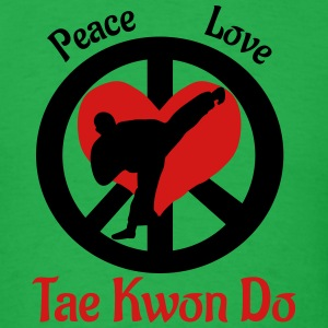 Peace Love Tae Kwon Do - Men's T-Shirt