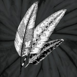 three Feathers  T-Shirts - Unisex Tie Dye T-Shirt