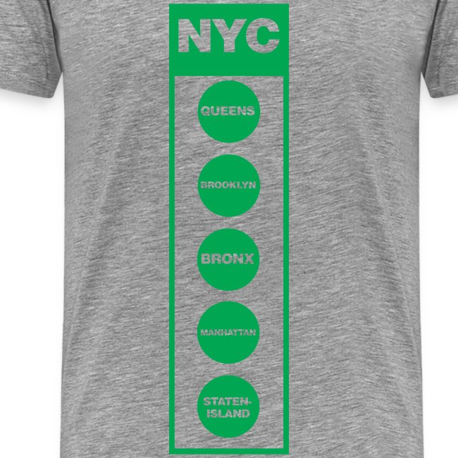 NYC Traffic Light 5 Borough Tee