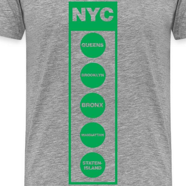 NYC Traffic Light 5 Borough Tee