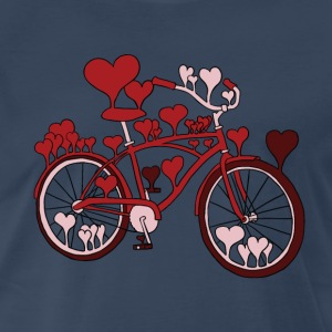 hearts on bike T-Shirts - Men's Premium T-Shirt