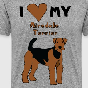 i heart my airedale terrier T-Shirts - Men's Premium T-Shirt