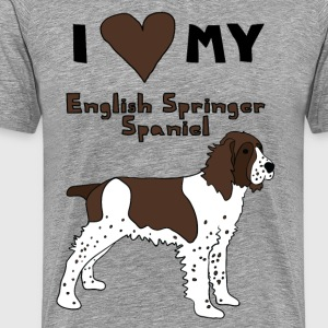 i heart my english springer spaniel T-Shirts - Men's Premium T-Shirt