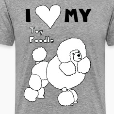 i heart my toy poodle T-Shirts