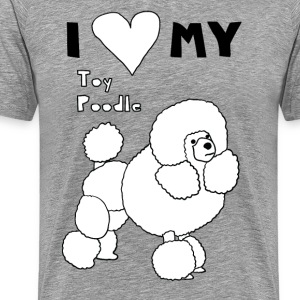 i heart my toy poodle T-Shirts - Men's Premium T-Shirt