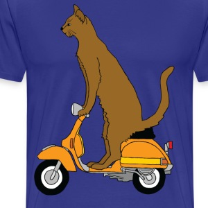 cat on motor scooter T-Shirts - Men's Premium T-Shirt