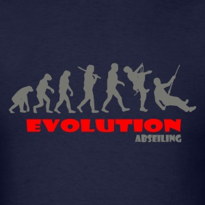 Abseiling ape of Evolution - Men's T-Shirt