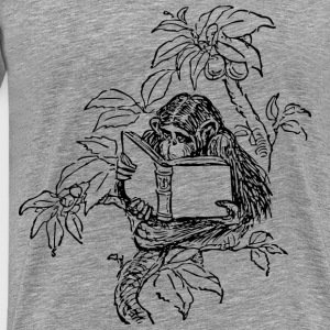 Monkey Reading - Men's Premium T-Shirt