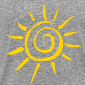 Simple Sun Motif - Men's Premium T-Shirt