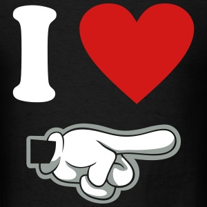 i heart couple pointing right - Men's T-Shirt