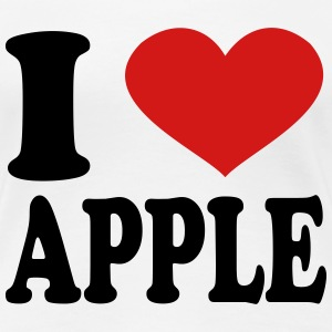I Love apple Women's T-Shirts - Women's Premium T-Shirt
