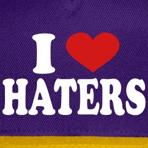 I Love haters Caps - Snap-back Baseball Cap
