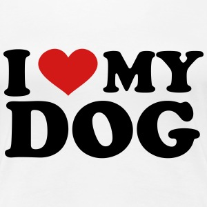 I Love my dog Women's T-Shirts - Women's Premium T-Shirt