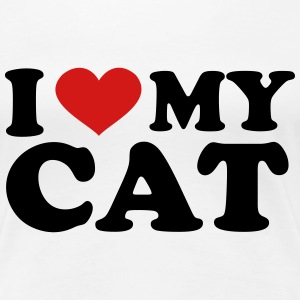 I Love my cat Women's T-Shirts - Women's Premium T-Shirt