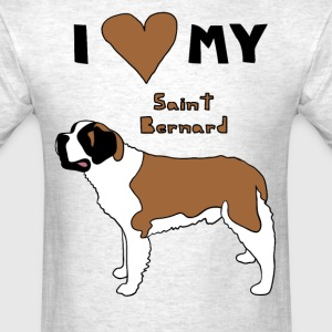 i heart my saint bernard T-Shirts - Men's T-Shirt