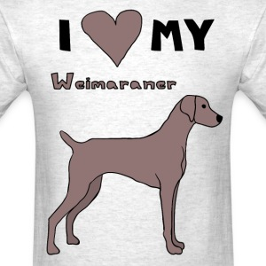 i heart my weimaraner T-Shirts - Men's T-Shirt