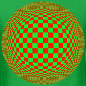 Red Green Illusion T-Shirts - Men's T-Shirt