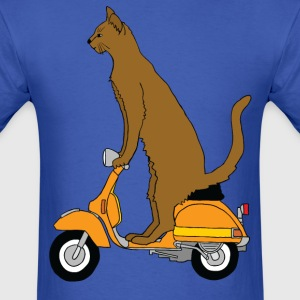 cat on motor scooter T-Shirts - Men's T-Shirt