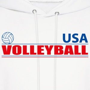 Volleyball USA Hoodies - Men's Hoodie
