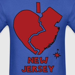 i heart New Jersey (red) T-Shirts - Men's T-Shirt