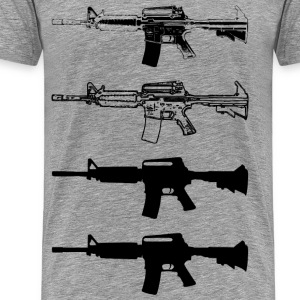 Assault machine gun - Men's Premium T-Shirt