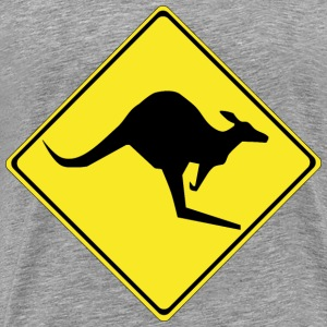 Warning kangaroos ahead - Men's Premium T-Shirt