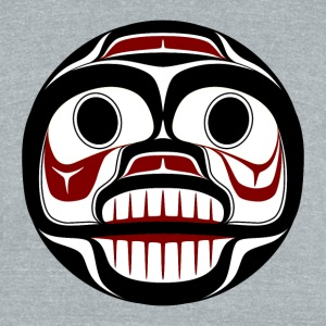 Northwest Pacific coast Haida Weeping skull T-Shirts - Unisex Tri-Blend T-Shirt by American Apparel
