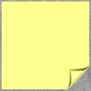 Sticky Note Yellow Folded - Men's Premium T-Shirt