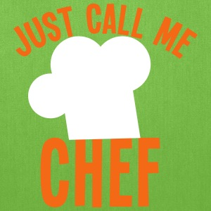 Just call me CHEF cook cooking funny Bags & backpacks - Tote Bag