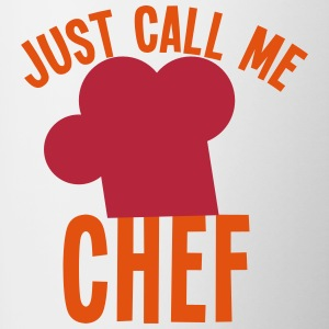 Just call me CHEF cook cooking funny Bottles & Mugs - Contrast Coffee Mug
