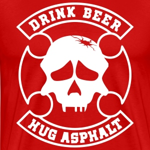 Drink Beer Hug Asphalt - Men's Premium T-Shirt