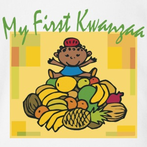 My First Kwanzaa Black African American Holiday  - Short Sleeve Baby Bodysuit