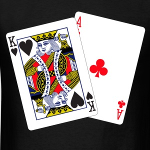 Blackjack inverted T-Shirts - Men's T-Shirt