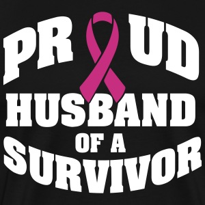 Proud husband of a survivor T-Shirts - Men's Premium T-Shirt