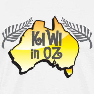 KIWI in Oz funny New Zealand in Australia T-Shirts - Men's Premium T-Shirt