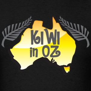 KIWI in Oz funny New Zealand in Australia T-Shirts - Men's T-Shirt
