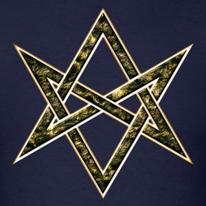 Unicursal Hexagram, Magic, Mystic, Occult, Symbol T-Shirts - Men's T-Shirt