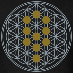 Flower of Life, Tree of Life, Kabbalah, Sephiroth T-Shirts - Men's T-Shirt