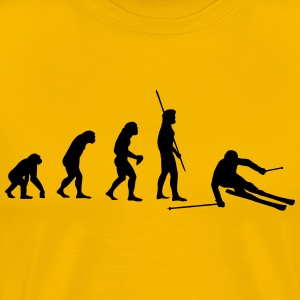Evolution skier downhill Shirt - Men's Premium T-Shirt